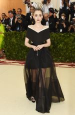 LILY COLLINS at MET Gala 2018 in New York 05/07/2018