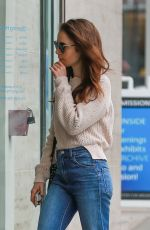 LILY COLLINS Out and About in Beverly Hills 05/30/2018