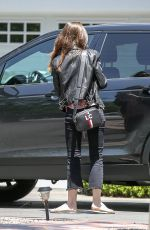 LILY COLLINS Out in Beverly Hills 05/16/2018