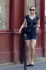 LILY-ROSE DEPP Out and About in Paris 05/07/2018