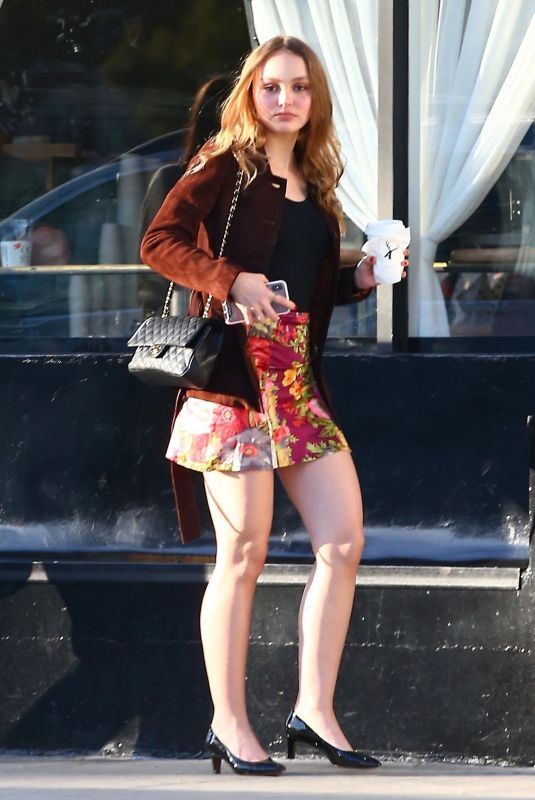 LILY-ROSE DEPP Out for Coffee in Beverly Hills 05/15/2018
