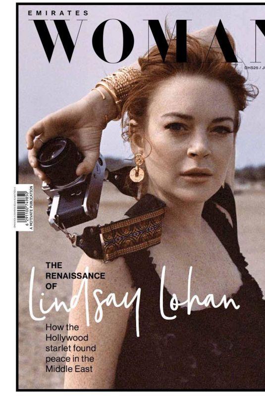LINDSAY LOHAN in Emirates Woman Magazine, June 2018