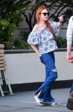 LINDSAY LOHAN Out and About in New York 05/03/2018