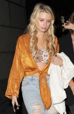 LOTTIE MOSS in Ripped Jeans at Mahiki Nightclub in London 05/17/2018