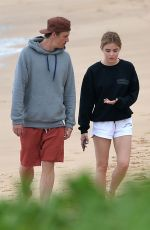 LUCY HALE and Riley Smith Out at a Beach in Maui 05/09/2018