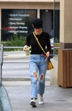 LUCY HALE in Ripped Jeans Out in Studio City 05/21/2018