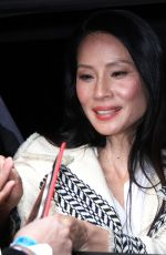 LUCY LIU Heading to a Studio in New York 04/30/2018