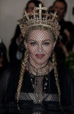 MADONNA at MET Gala 2018 in New York 05/07/2018