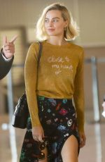 MARGOT ROBBIE Arrives at Charles De Gaulle Airport in Paris 05/06/2018