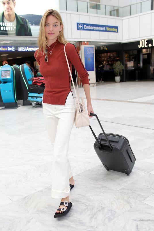MARTHA HUNT at Nice Airport 05/20/2018