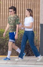 MAYA HAWKE and Joe Keery on the Set of Stranger Things in Duluth 05/18/2018