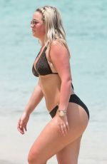 MEGAN DAVISON in Bikini at a Beach in Barbados 05/15/2018
