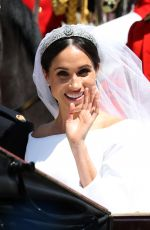 MEGHAN MARKLE and Prince Harry at Royal Wedding at Windsor Castle 05/19/2018