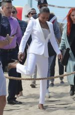 MELANIE BROWN at Today Show Hosted by Kathie Gifford & Hoda at Venice Beach 05/25/2018