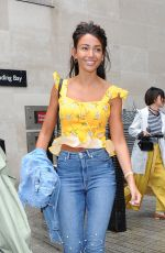 MICHELLE KEEGAN in Jeans Leaves BBC Radio in London 05/29/2018
