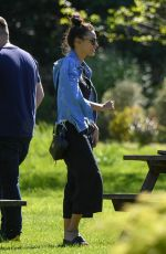 MICHELLE KEEGAN Out at a Park in Manchester 05/14/2018