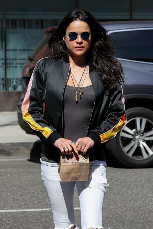 MICHELLE RODRIGUEZ Out in Beverly Hills 05/10/2018