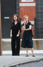 MICHELLE WILLIAMS and JULIANNE MOORE on the Set of After the Wedding in New York 05/29/2018