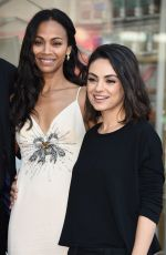 MILA KUNIS at Zoe Saldana Star on the Hollywood Walk of Fame Ceremnoy in Los Angeles 05/03/2018
