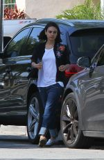 MILA KUNIS Out and About in Los Angeles 05/23/2018