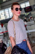MILLA JOVOVICH at Nice Airport 05/18/2018