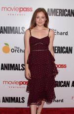 MINA SUNDWALL at American Animals Premiere in New York