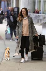 MINKA KELLY Arrives with Her Dog in Toronto 05/21/2018