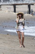 MINNIE DRIVER Out on the Beach in Los Angeles 05/30/2018