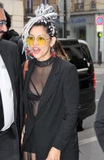 MIRANDA RAE MAYO Arrives at Her Hotel in Paris 05/13/2018