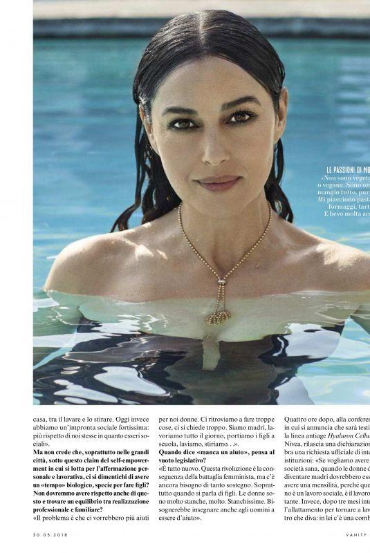 MONICA BELLUCCI in Vanity Fair Magazine, Italy May 2018