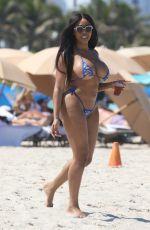 MORIAH MILLS in Bikini at a Beach in Miami 05/06/2018