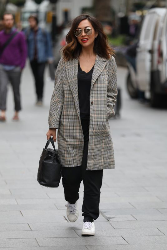 MYLEENE KLASS Arrives at Global Radio Studios in London 05/25/2018