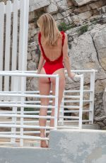 NADINE LEOPOLD in Swimsuit at Eden Roc Hotel in Antibes 05/16/2018