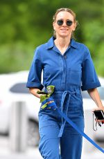 NAOMI WATTS in Blue Jeans Jumper Out with Her Dog in New York 05/22/2018