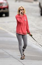NAOMI WATTS Out with Her Dog in New York 05/23/2018