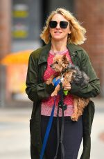 NAOMI WATTS Out with Her Dogs in New York 05/30/2018
