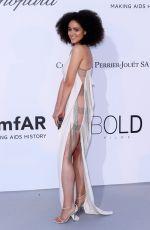 NATHALIE EMMANUEL at Amfar's 25th Cinema Against Aids Gala at Cannes Film Festival 05/17/2018
