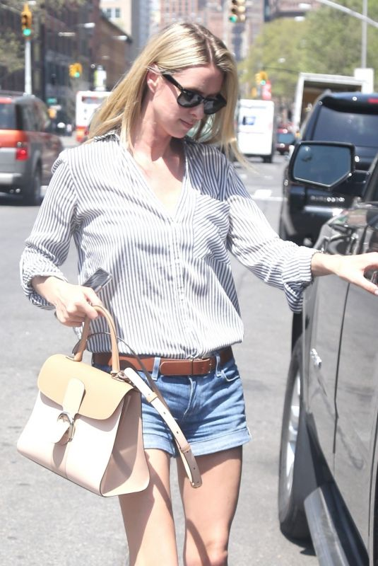 NICKY HILTON in Denim Shorts Out in New York 05/03/2018