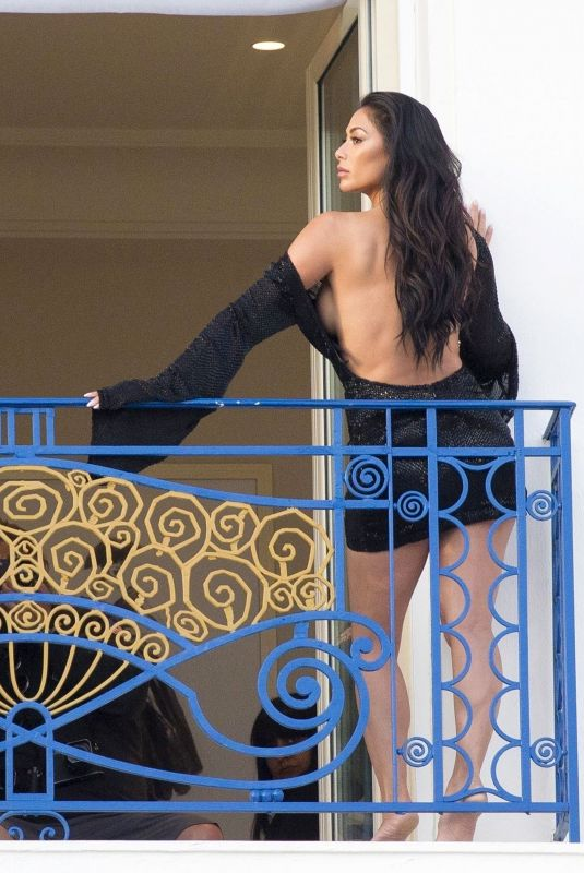 NICOLE SCHERZINGER on the Set of a Photoshoot in Cannes 05/16/2018
