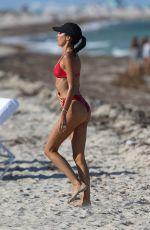 NICOLE WILLIAMS in Bikini at a Beach in Miami 04/30/2018