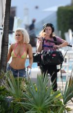 NIKKI and BRIE BELLA and other WWE Stars Filming Total Ddivas in Miami 05/30/2018