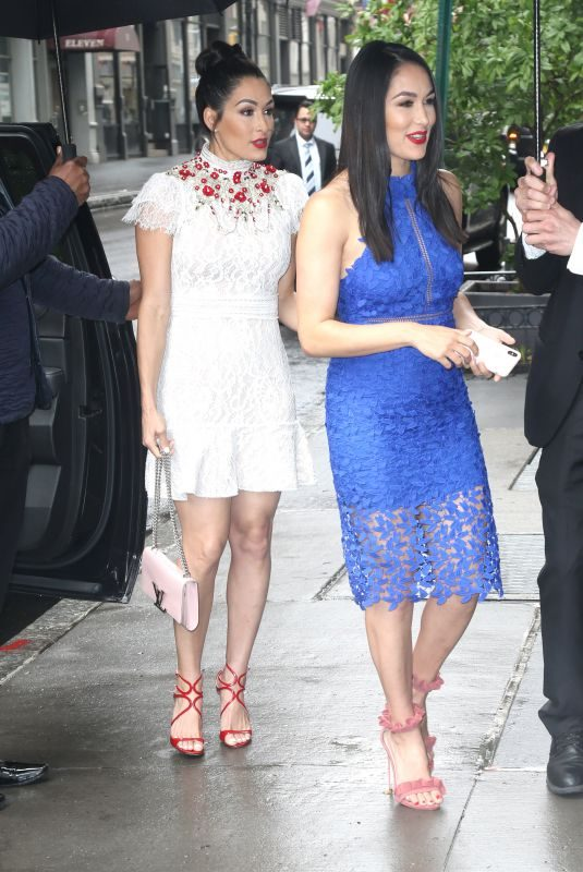 NIKKI and BRIE BELLA Arrives at The Chew in New York 05/17/2018