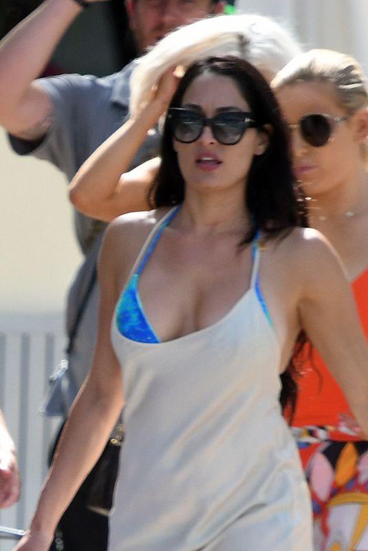 NIKKI BELLA in Bikini on the Set of Total Divas at a Pool in Miami 05/30/2018