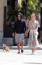 NINA AGDAL and Jack Brinkley Out with Their Dog in New York 05/21/2018