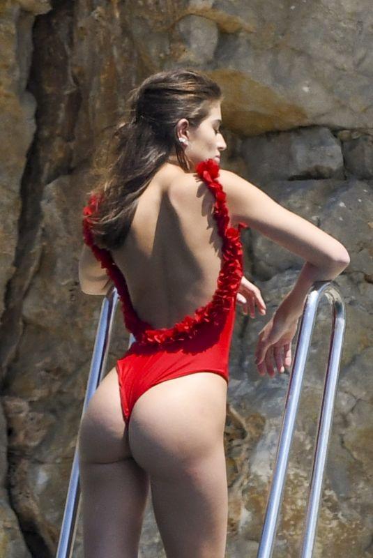 NOEL CAPRI BERRY in Swimsuit at Hotel Cap Eden Roc in Antibes 05/17/2018