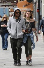 PARIS JACKSON and TJ Jackson Out in Paris 05/25/2018