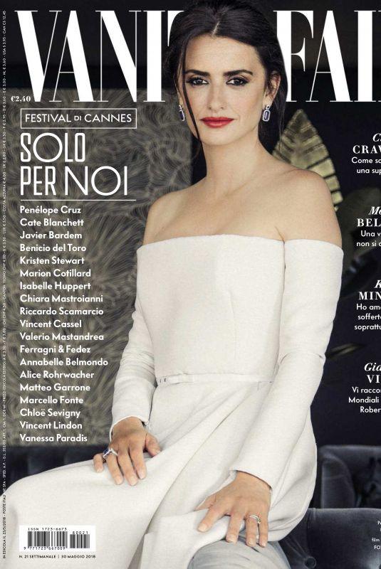 PENELOPE CRUZ in Vanity Fair Magazine, Italy May 2018