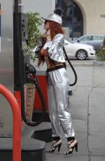 PHOEBE PRICE at a Gas Station in Beverly Hills 05/18/2018