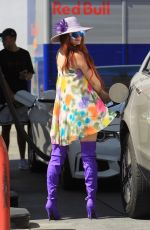 PHOEBE PRICE at a Gas Station in Hollywood 05/04/2018
