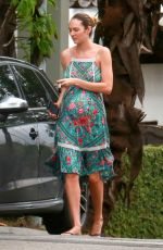 Pregnant CANDICE SWANEPOEL Out in Vitoria, Brazil 05/14/2018